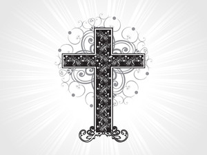 Isolated Creative Pattern Cross