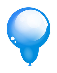 Isolated Glossy Balloon
