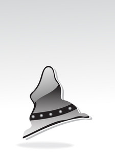 Isolated Glossy Halloween Hat Illustration