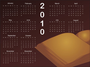 Isolated Note Book Wirh Calender Background
