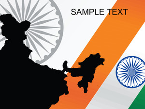 Isolated On Indian Flag Vector