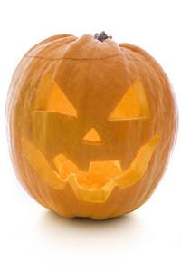 Isolated Pumpkin Lantern