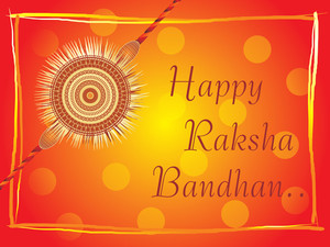Isolated Rakhi On Background