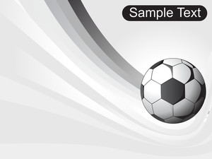 Isolated Soccer Ball With Sample Text And Stripes