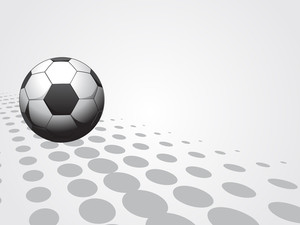 Isolated Soccer With Background