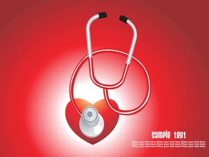 Isolated Stethoscope With Red Heart