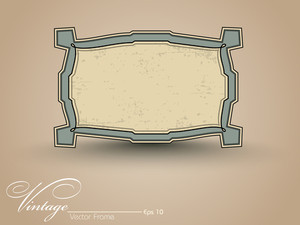 Isolated Vintage Frame. Vector Illustration.