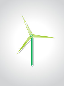 Isolated Wind Turbines Illustration