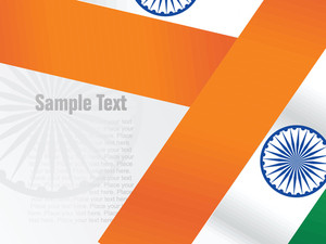 Isolated With Indian Flag Vector