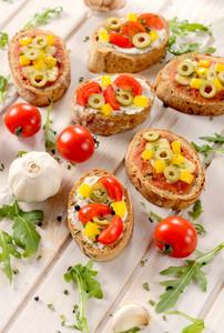 Italian Bruschettas With Vegetables