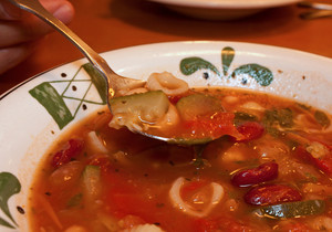 Italian Minestrone Soup Close Up