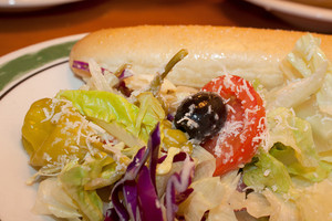 Italian Salad And Bread