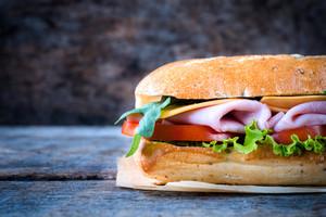 Italian Sandwich On Wooden Background