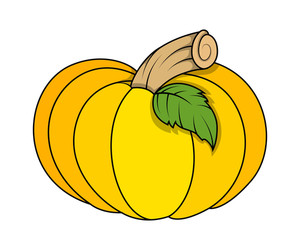 Jack O' Lantern Pumpkin - Halloween Vector Illustration