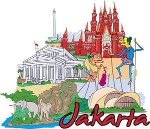 Jakarta Vector Doodle