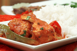 Traditional Indian Curry Meal