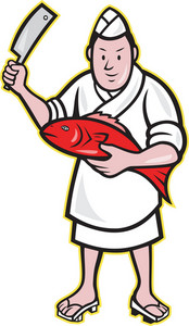 Japanese Fishmonger Butcher Chef Cook