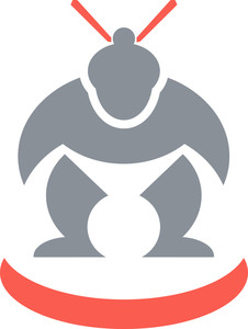 Japanese Sumo Wrestler Front