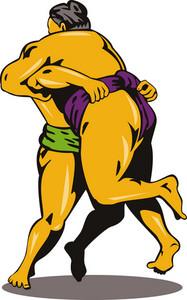 Japanese Sumo Wrestlers