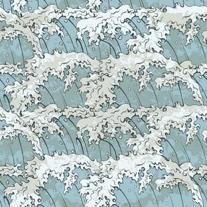Japanese Waves Pattern Vector Illustration