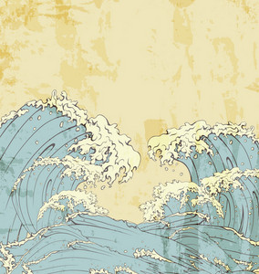 Japanese Waves Vector Illustration