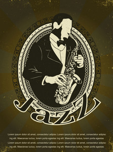 Jazz Poster Vector Illustration