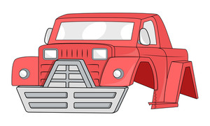 Jeep Car Body Vector