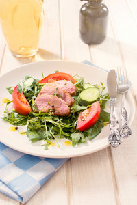 Mixed Greens Salad With Meat