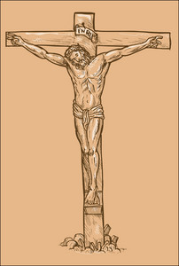 Jesus Christ Hanging On The Cross