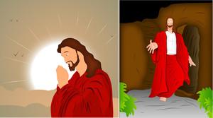 Jesus Christ Portrait Vectors