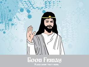 Jesus With Grungy Background