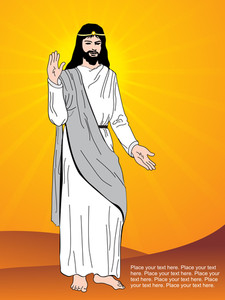 Jesus With Rays Background