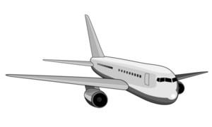 Jet Plane Front View White