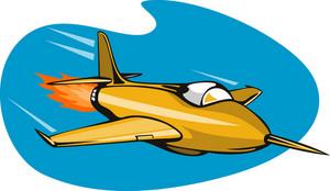 Jet Plane Rocket Ship
