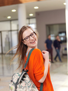 Female student on campus