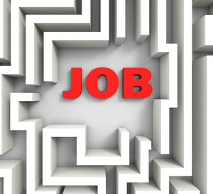 Job In Maze Shows Finding Jobs