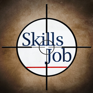 Job Skills Target Concept