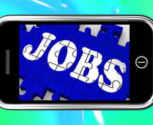 Jobs On Smartphone Shows Vocational Guidance