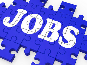 Jobs Puzzle Shows Careers And Employment
