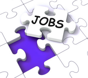 Jobs Puzzle Shows Vocational Guidance