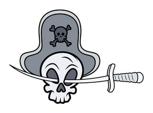 Jolly Roger - Vector Cartoon Illustration