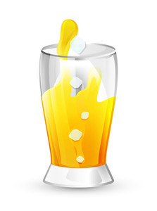 Juice Glass Vector