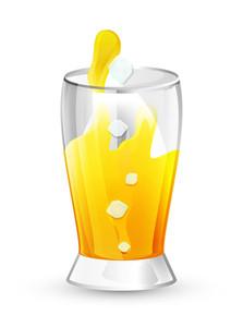 Juice Glass Vector