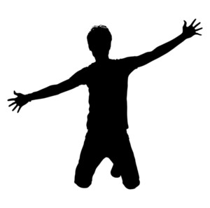 Jumping Boy Shape