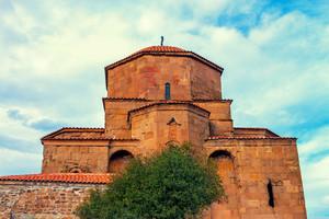 Jvari Monastery near Mtskheta city in Georgia country