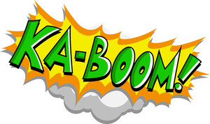 Kaboom - Comic Expression Vector Text