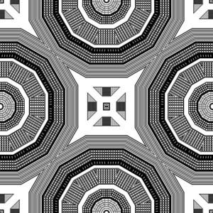 Kaleidoscope Retro Background
