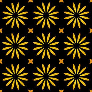 Kaleidoscopic Flowers Pattern