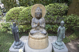 KAMAKURA - APRIL 13 : Buddha sculptures at Hase Kannon Temple on April 13, 2012 in Kamakura, Kanagawa, Japan