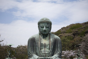 KAMAKURA - APRIL 13 : Great buddha in Kotoku-in Temple on April 13, 2012 in Kamakura, Kanagawa, Japan